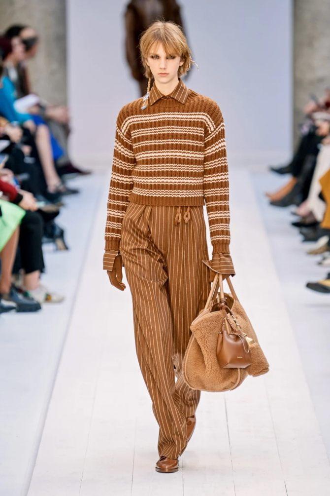 Модные вязаные кофты на осень 2020-2021 40