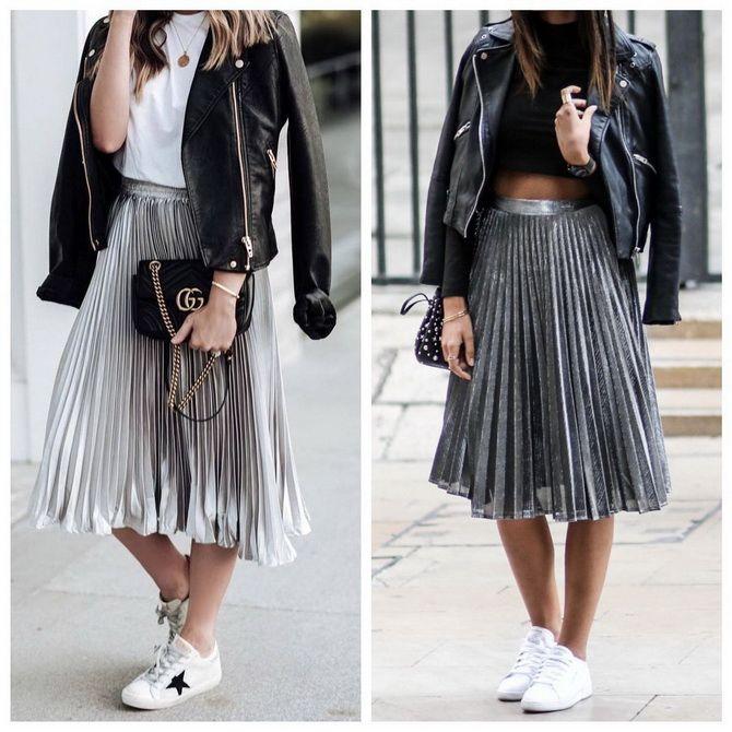 З чим носити сріблясту спідницю – актуальний тренд осені 19