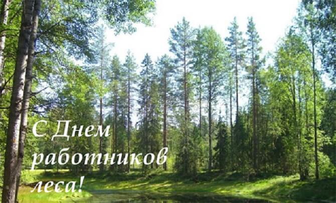 Поздравления с Днем работников леса  проза