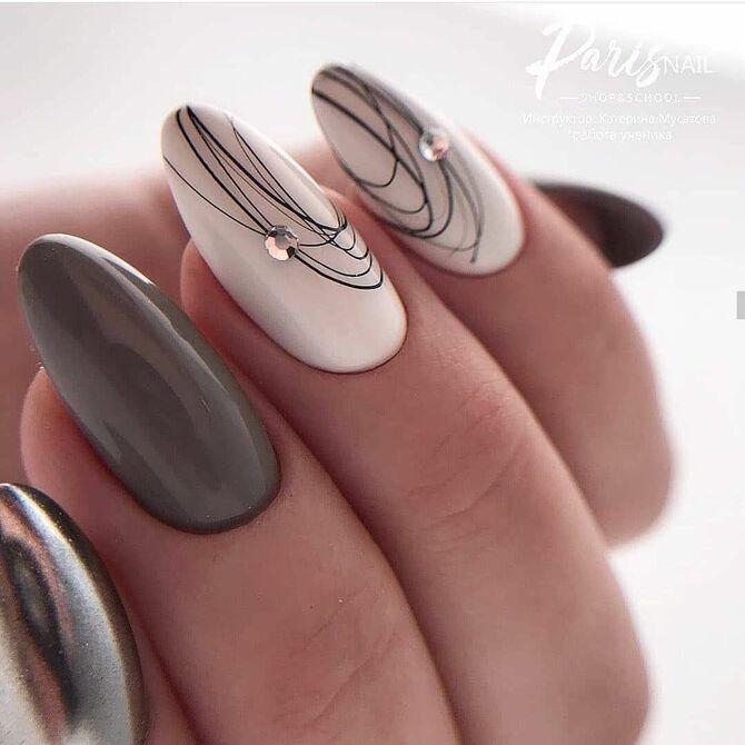 Павутинка на нігтях: ефектні дизайни 2020–2021 10