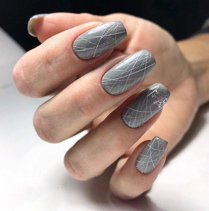 Павутинка на нігтях: ефектні дизайни 2020–2021 11