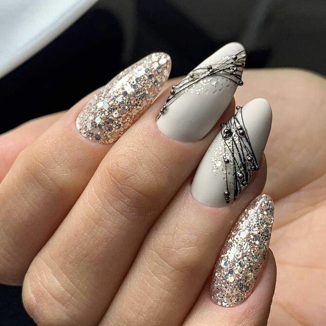 Павутинка на нігтях: ефектні дизайни 2020–2021 14