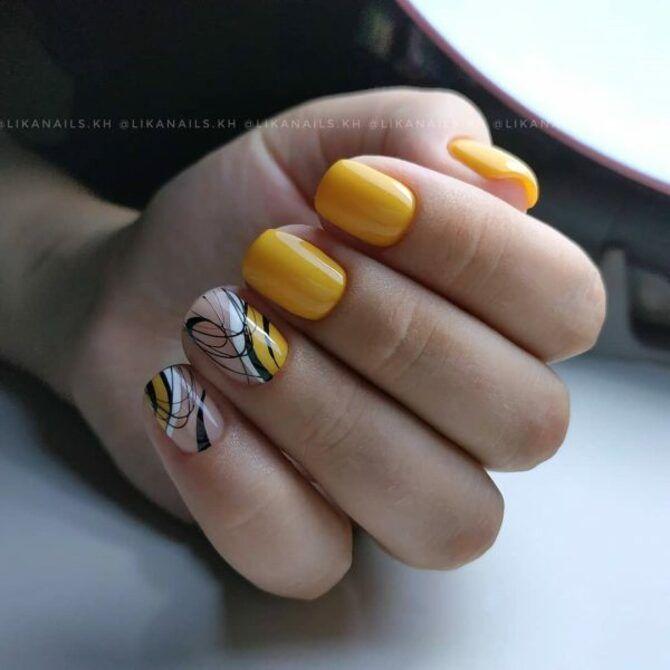 Павутинка на нігтях: ефектні дизайни 2020–2021 43