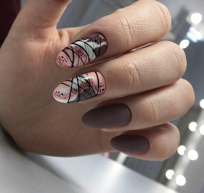 Павутинка на нігтях: ефектні дизайни 2020–2021 48