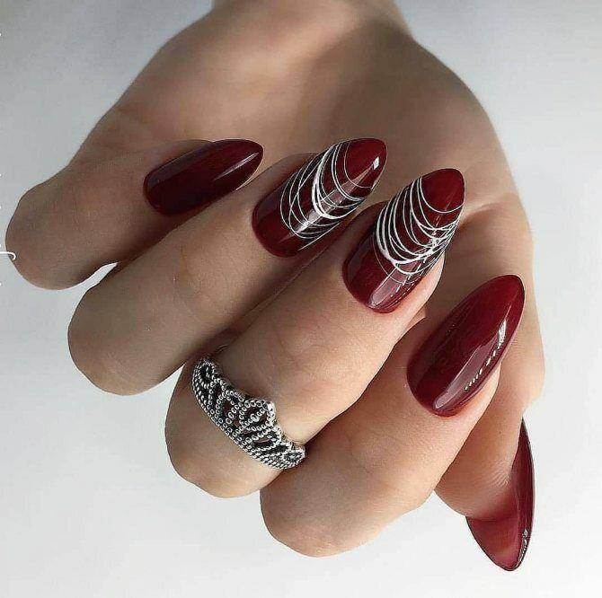 Павутинка на нігтях: ефектні дизайни 2020–2021 59