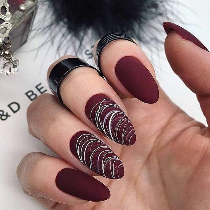 Павутинка на нігтях: ефектні дизайни 2020–2021 61