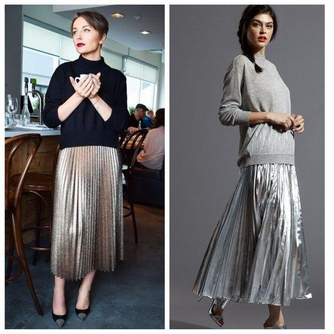 З чим носити сріблясту спідницю – актуальний тренд осені 10