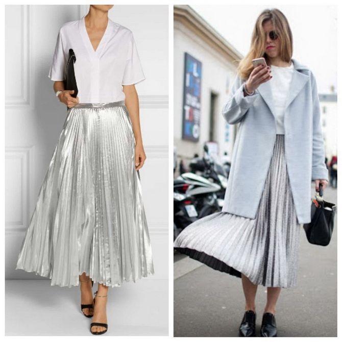 З чим носити сріблясту спідницю – актуальний тренд осені 11