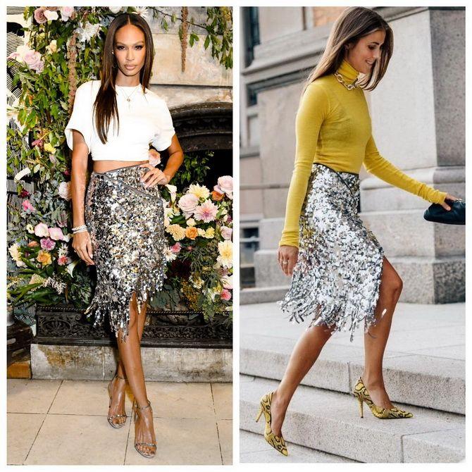 З чим носити сріблясту спідницю – актуальний тренд осені 8