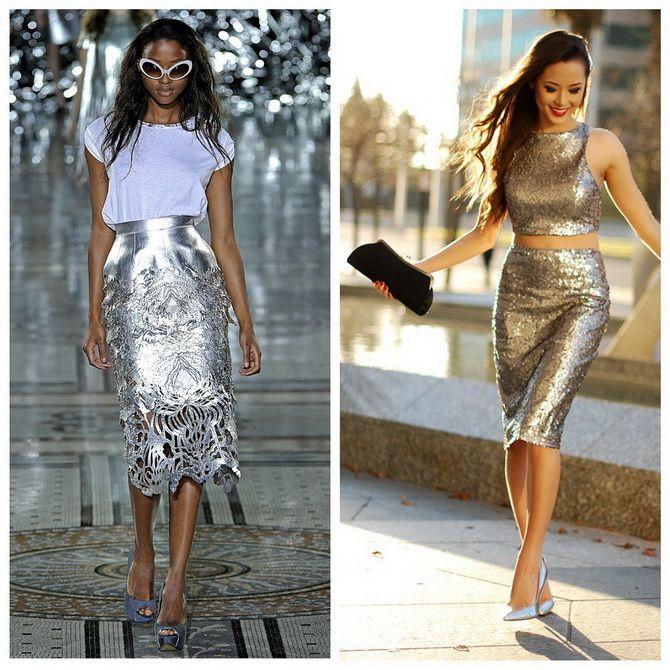 З чим носити сріблясту спідницю – актуальний тренд осені 6