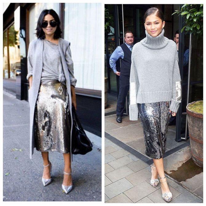 З чим носити сріблясту спідницю – актуальний тренд осені 7