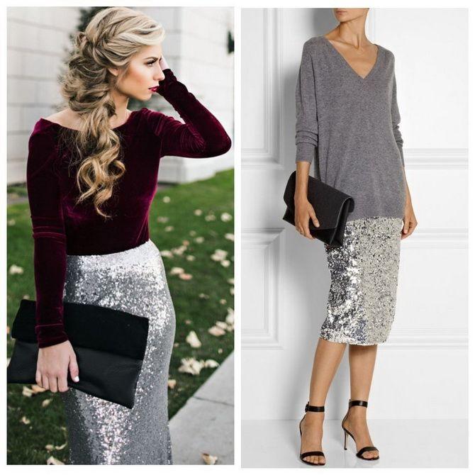 З чим носити сріблясту спідницю – актуальний тренд осені 9