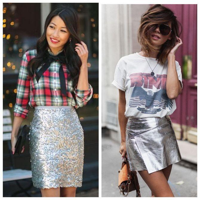 З чим носити сріблясту спідницю – актуальний тренд осені 2