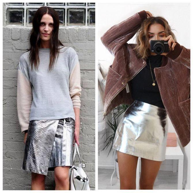 З чим носити сріблясту спідницю – актуальний тренд осені 3