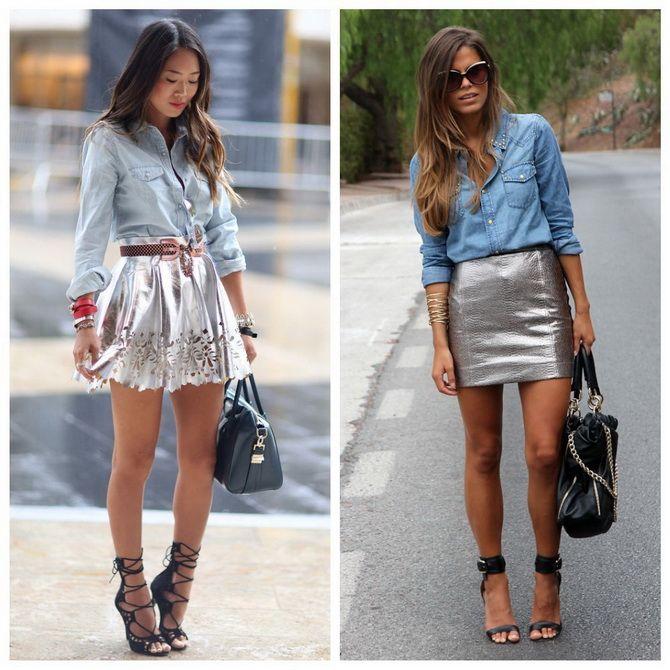 З чим носити сріблясту спідницю – актуальний тренд осені 4