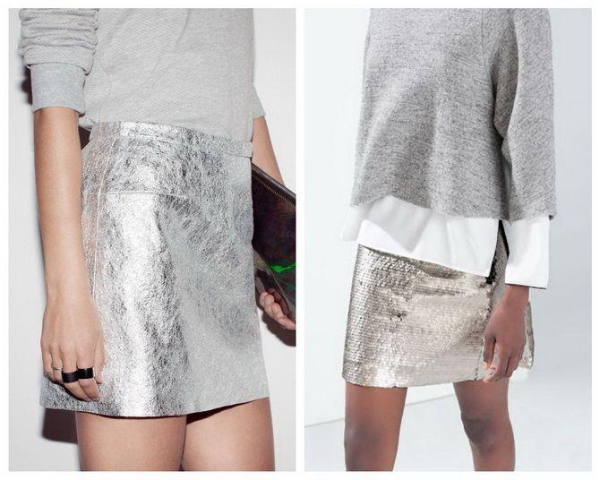 З чим носити сріблясту спідницю – актуальний тренд осені 5