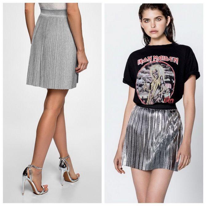 З чим носити сріблясту спідницю – актуальний тренд осені 12