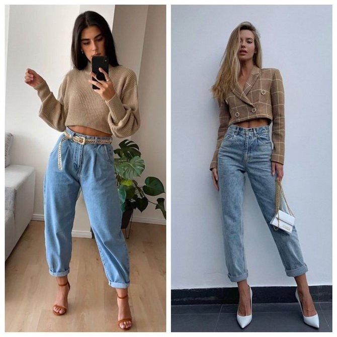 Идеи образов с голубыми джинсами, которые не выйдут из моды 10