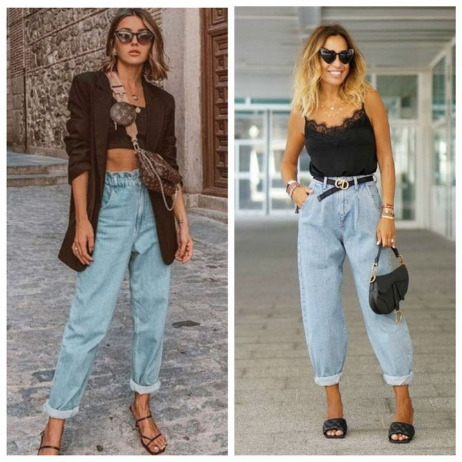Идеи образов с голубыми джинсами, которые не выйдут из моды 11