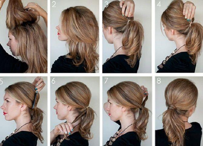 Низький хвіст – кращі ідеї зачіски для повсякденного і вечірнього образу 4