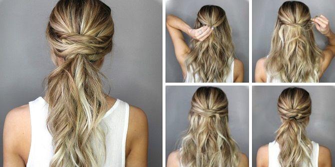 Низький хвіст – кращі ідеї зачіски для повсякденного і вечірнього образу 7