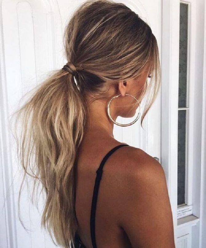 Низький хвіст – кращі ідеї зачіски для повсякденного і вечірнього образу 20