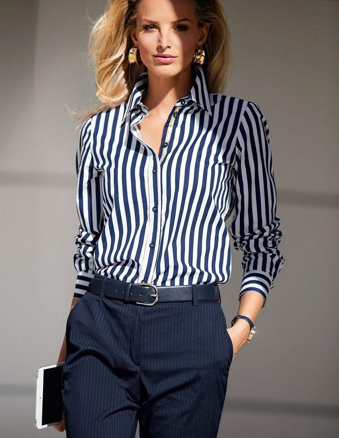 Сорочка в смужку: актуальні модні образи 6