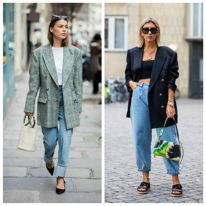 Идеи образов с голубыми джинсами, которые не выйдут из моды 9