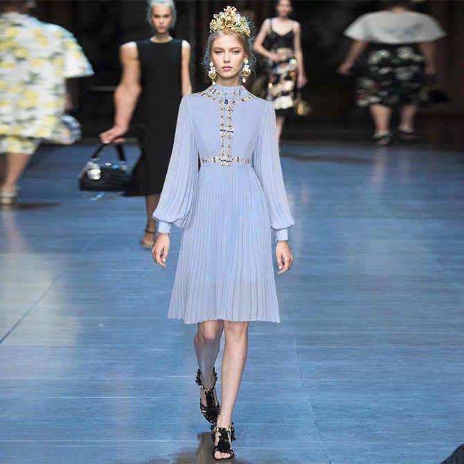 Модні сукні з довгим рукавом 2020-2021 2