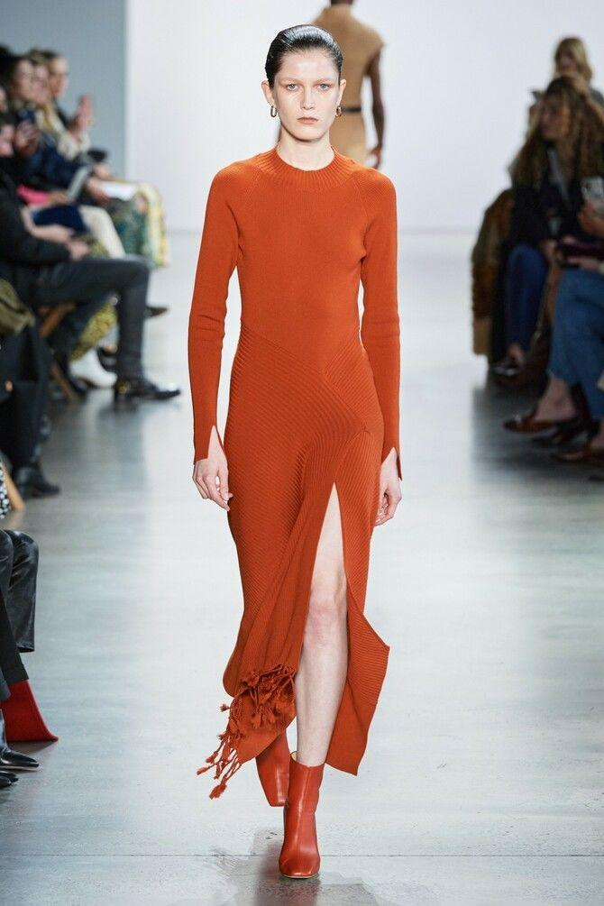 Модні сукні з довгим рукавом 2020-2021 26