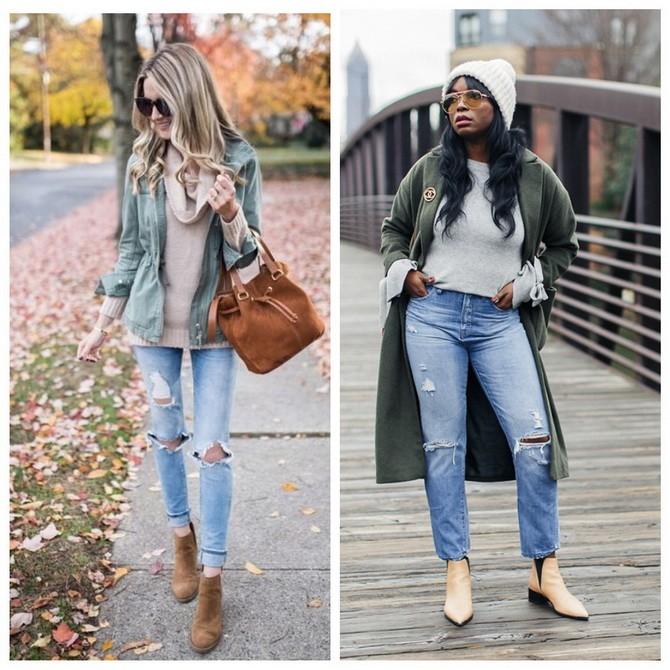 Идеи образов с голубыми джинсами, которые не выйдут из моды 1