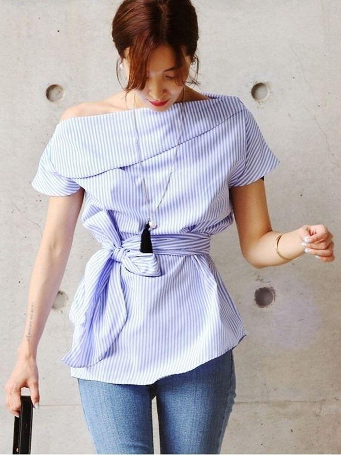 Сорочка в смужку: актуальні модні образи 5