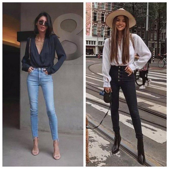 Идеи образов с голубыми джинсами, которые не выйдут из моды 12