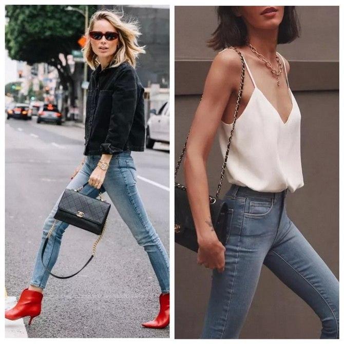 Идеи образов с голубыми джинсами, которые не выйдут из моды 13