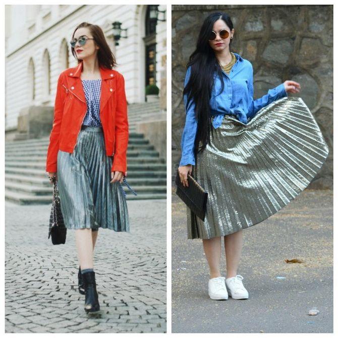 З чим носити сріблясту спідницю – актуальний тренд осені 25