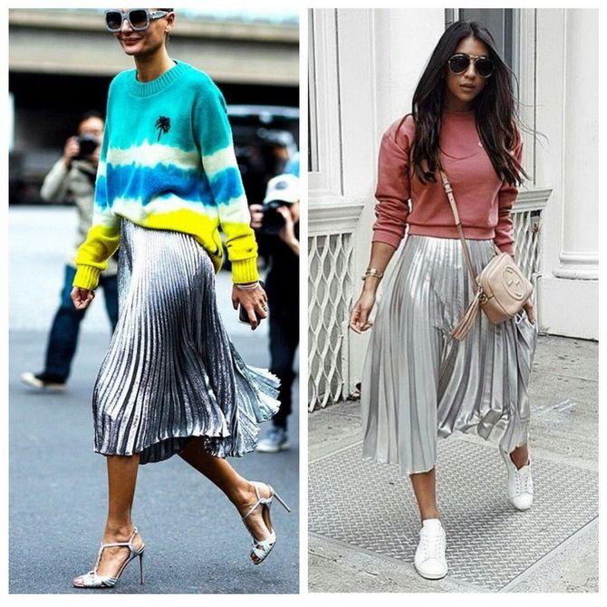 З чим носити сріблясту спідницю – актуальний тренд осені 26