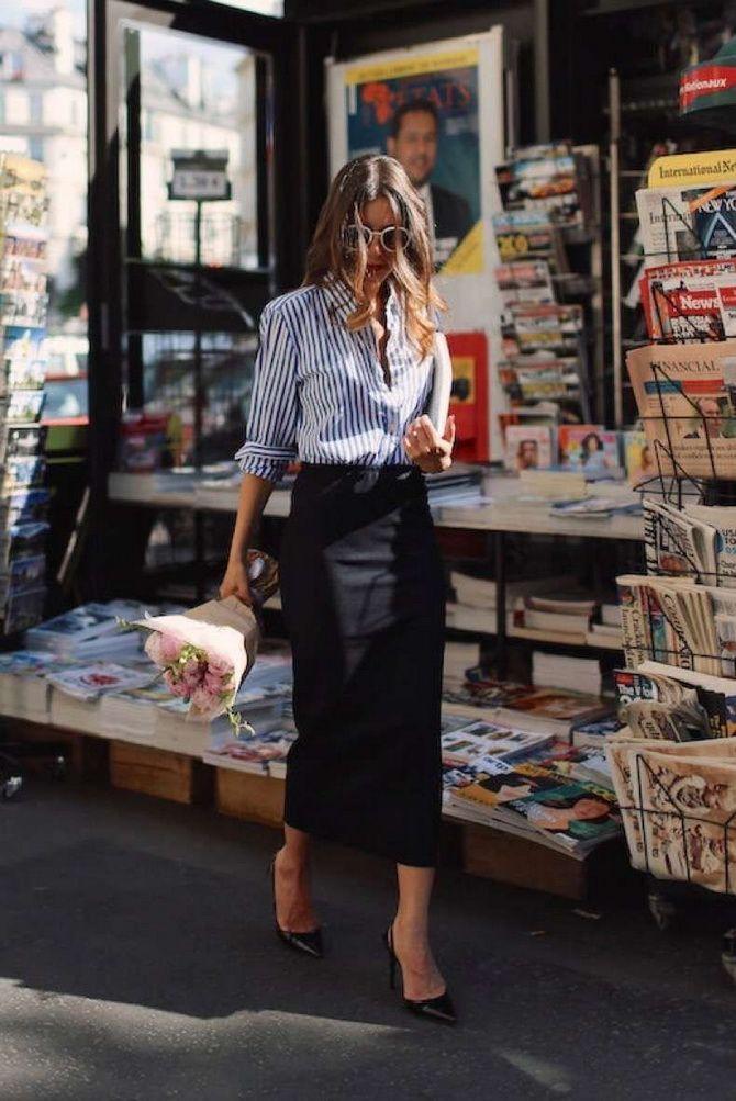 Сорочка в смужку: актуальні модні образи 15