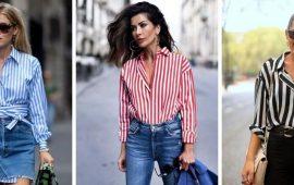 Рубашка в полоску: актуальные модные образы