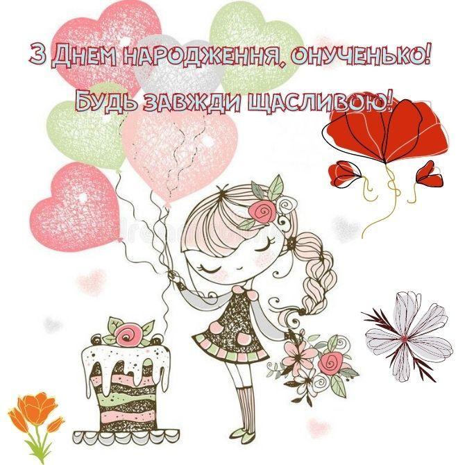 Привітання з днем народження внучці: проза, вірші, картинки 4