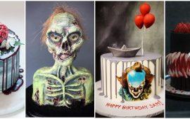 Торт на Хэллоуин: варианты украшения «ужасного» десерта