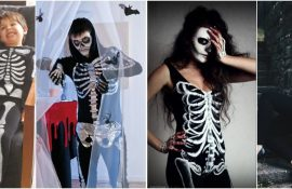 Show the bones: DIY Halloween skeleton costume