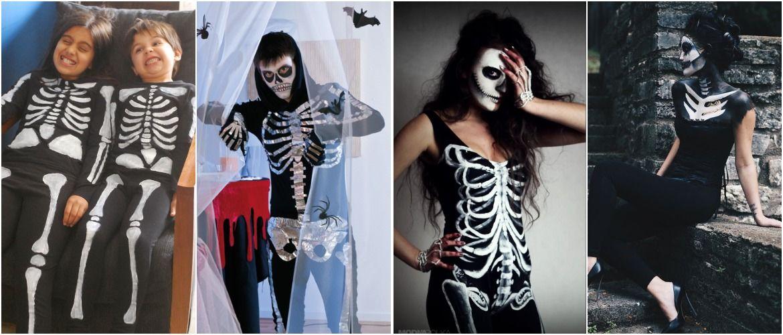 Show the bones: DIY Halloween skeleton costume