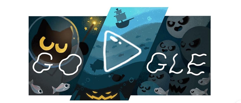 Поиграем? Google запустил игровой дудл с кошкой Момо в честь Хэллоуина