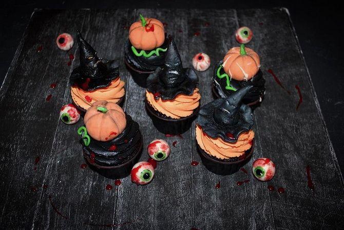 Капкейки на Хэллоуин: варианты декора для ужасно популярного лакомства 36