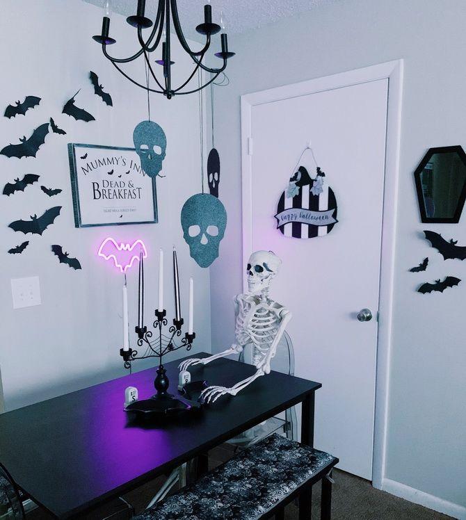 Комната страха: украшаем домашний интерьер на Хэллоуин 2020 13