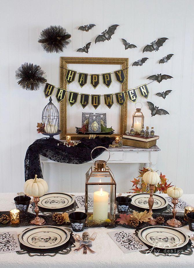 Комната страха: украшаем домашний интерьер на Хэллоуин 2020 27