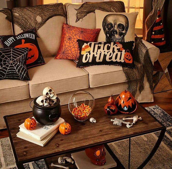 Комната страха: украшаем домашний интерьер на Хэллоуин 2020 29