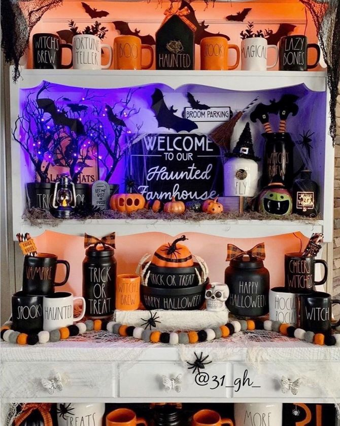Комната страха: украшаем домашний интерьер на Хэллоуин 2020 32