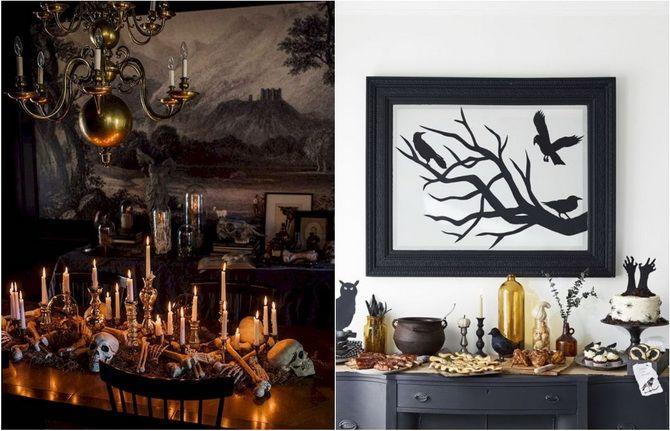Комната страха: украшаем домашний интерьер на Хэллоуин 2020 36