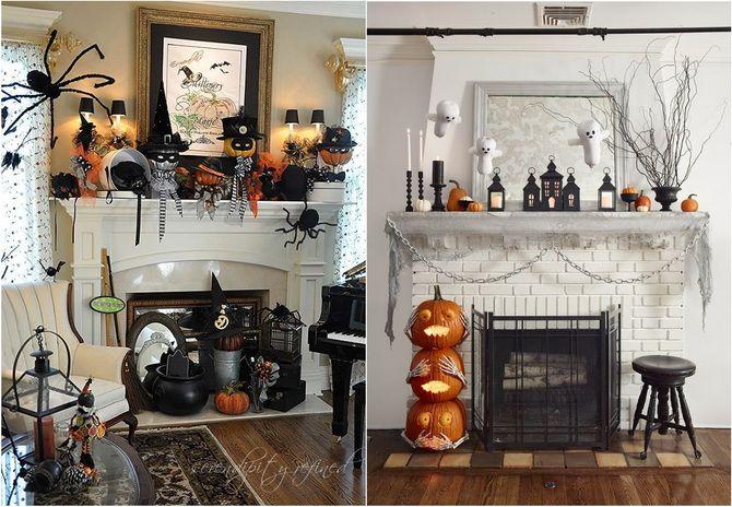 Комната страха: украшаем домашний интерьер на Хэллоуин 2020 37
